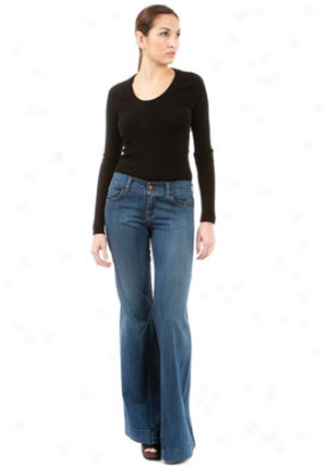 J Brand Kat 4 Pocket Wide Leg Jeans In Azul Je-14068-26