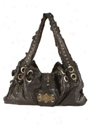 Jacqueline Jarrot Black Leather Shoulder Bag 00175002-blk-os