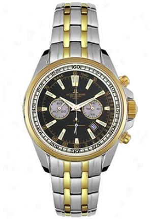 Jacques Lemans Men's Chrono Two Tone Watch Gold 1117gn