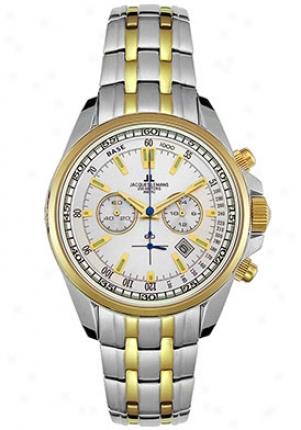 Jacques Lemans Men's Chrono Two Tone Watch Gold 1117hn