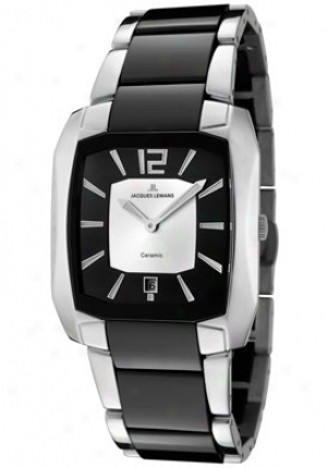 Jacques Lemans Men's Dublin 1-1628b High Tech Ceramic Stainless Steel 1628b