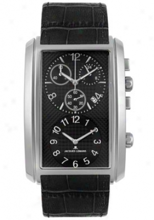 Jacques Lemans Men's Format Dualtimer Chornograph 1392a