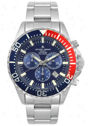 Jacques Lemans Men's Geneva Collection Chronograph Gu195c
