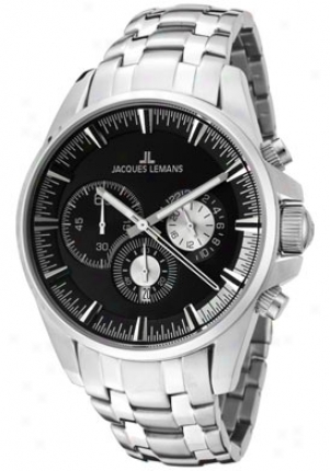 Jacques Lemans Men's Liverpool Chronograph 1-1652h Stainless Steel 1652h