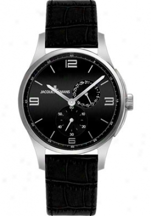 Jacques Lemans Men's London 1-1544a Black Leather 1544a