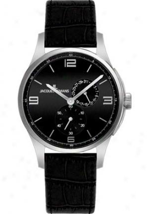 Jacques Lemans Men's London 1-1544a Black Leather 1544a