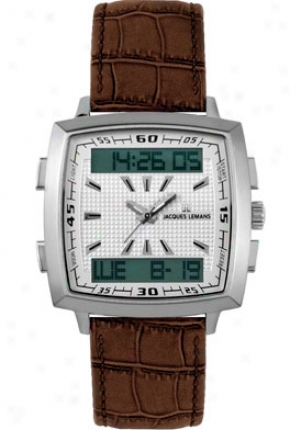 Jacques Lemans Men's Milano 1-1491b Brown Leather 14991b