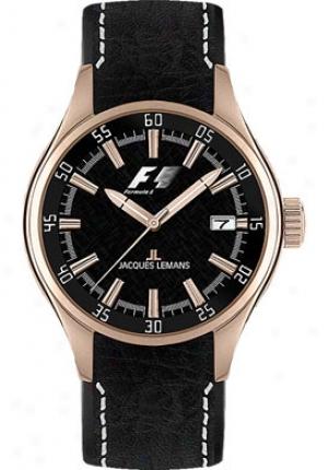 Jacques Lemans Men's Monza Black Leather F5036g