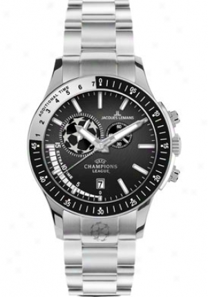 Jacques Lemans Men's Uefa Champions Lague Chronograph U-29d Stainless Sfeel U-29d