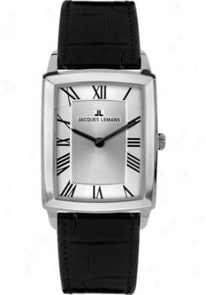Jacques Lemans Women's Bienne 1-1608b Black Leather 1608b