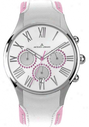Jacques Lemans Women's Capri Chronograph 1-1606g Mylticolour Leather 1606g