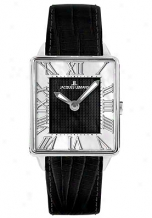 Jacques Lemans Women's Havana 1-1574a Black Leather 1574a