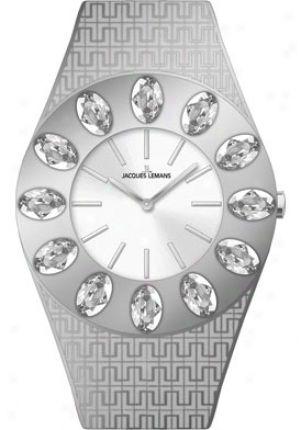 Jacques Lemans Women's Vedette Swarovski Crystal 1-1458a Stainless Steel 1458a
