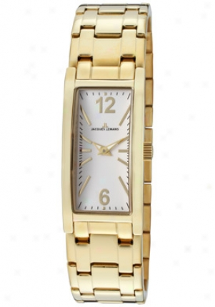 Jacques Lemans Women's Venice White Dial Gold Ion Plated Stainless Hardness 1572h-an