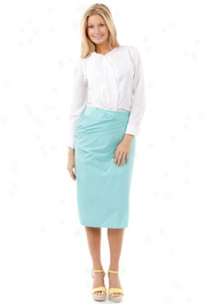 Jil Sander Aqua Straight Skirt Wbt-35500625004-gn42