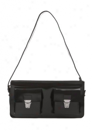 Jil Sander Black Leather Clutch 851194-580900-blk