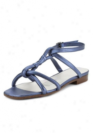 Jil Sander Blue Leather Sandals 862106570101-bl-38