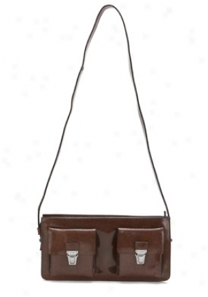 Jil Sander Brown Leather Shoulder Bag 85119458070-br-os