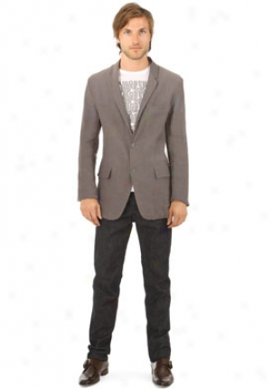 Jil Sander Grey And Blue V-neck Blazer Mja-150613m2523-gb54