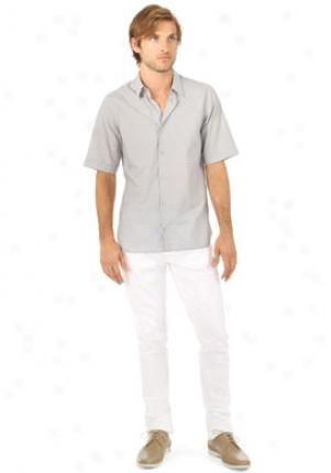 Jil Sander Grey Short Sleeve Pattern Shirt Mtp-am741326mf-gr-42