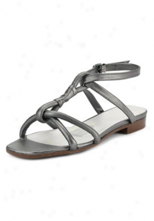 Jil Sander Grey Silver Flat Sandals 8621065701-gs-40