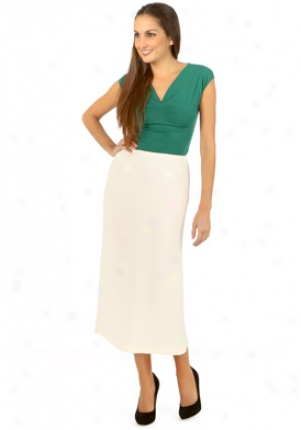 Jil Sander Ivory Silk Long Skirt Wbt-alcohol351-iv36