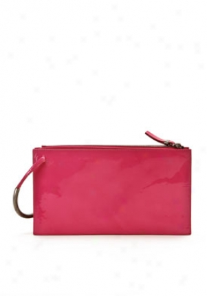 Jil Sander Pink Patent Leather Clutch 85125058160-pi-os