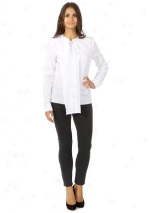 Jil Sander White Long Sleeve Blouse Wtp-602206241300-w40
