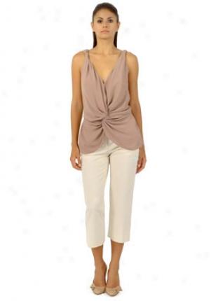 John Galliamo Beige Capri Style Pants Wbt-rq6115-ow38