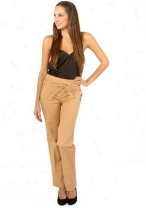 John Galliano Brown Straight Leg Pants Wbt-rq125-br40