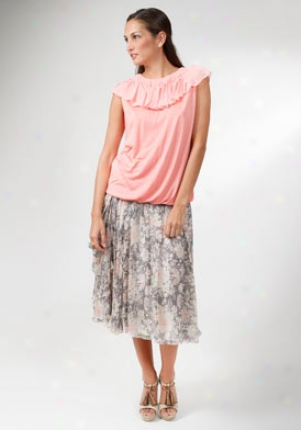 John Galliano Light PinkS leeveless Top Wtp-sqf725-ltpnk-m