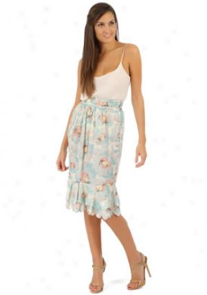 John Galliano Multicolor Floral Print Skirt Wbt-7350q0-ws42