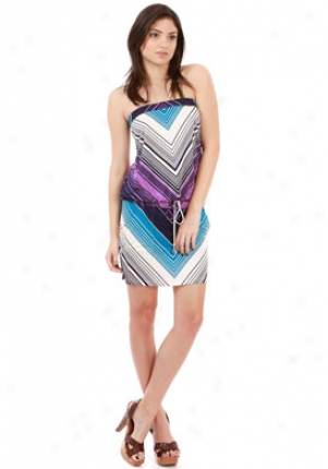 Julie Brown Blue Chevron Adorn Dr-00085015i