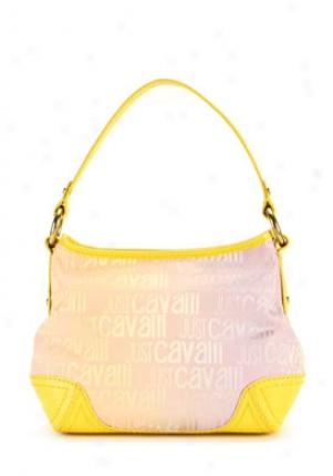 Just Cavalli Golden Logo Printed Shoulder Bag Cbpg-80717-yellow