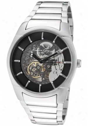 Kenneth Cole Men's Automatic Skeletonized See-thru Black Dial Stainless Steel Kc3898