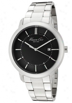 Kenneth Coole Men's Charcoal Dial Unsullied Steel Kc3907