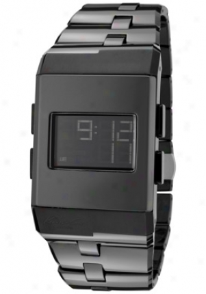 Kenneth Cole Men's Djgital Multi-function Black Dial Black Ceramic Kc3982