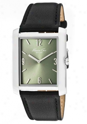 Kenneth Cole Men's Olive Dial Wicked Genuine Leather Kc1537