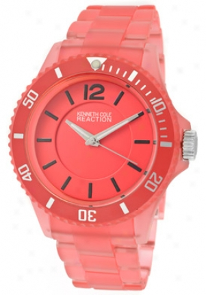 Kenneth Cole Reaction Women's Pink Dial Pink Plastic Rk4122