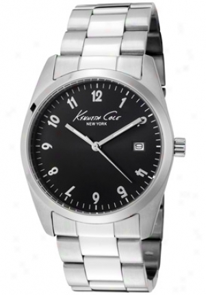 Kenneth Cole Women's Black Dial Stainless Steel Kc4777