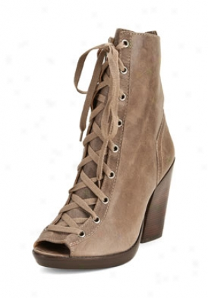 Kors Michael Kors Tan Leatyer Peep Tow Boots 41t0anhb2w277-ta-10