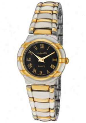 Lindenwold Women's Black Dial Two Tone 70377