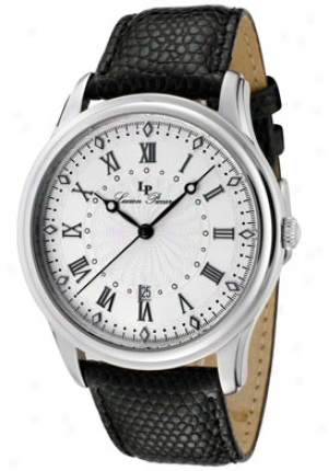 Lucien Piccard Men's Westport Off White Guilloche Dial Black Genuine Leather 28170sl