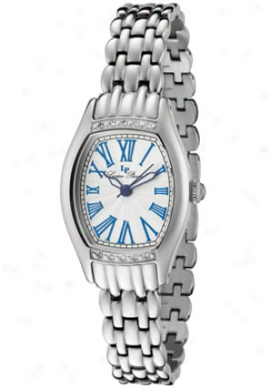 Lucien Piccard Women's Ventura White Diamond Stainless Steel 28123sl