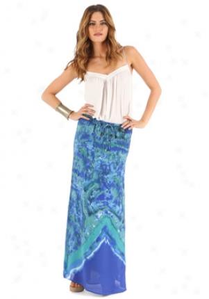 Madison Marcus Blue Long Silk Skirt Wbt-i-m3466-bl-m