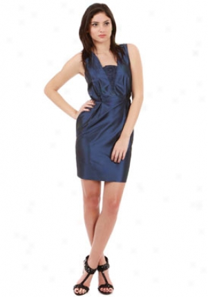 Madison Marcus Navy V Dress Dr-1100004m