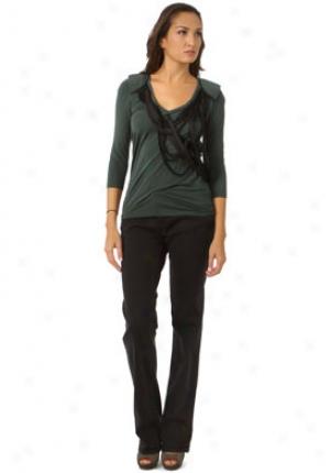 Maisonette Green Half Sleeve Top Wtp-fw10m020-xs