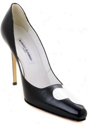 Manolo Blahnik Adra Black Leather Pumps Adra-black-40