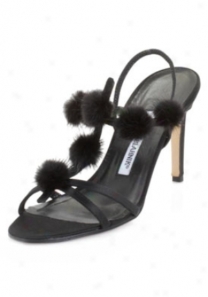 Manolo Blwhnik Compulsa Black Satin High Heel Sandals Compulsa-black-40