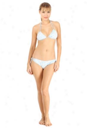 Marc By Marc Jacobs Bue Marbelized Bikini Wsw-141080-bl-s